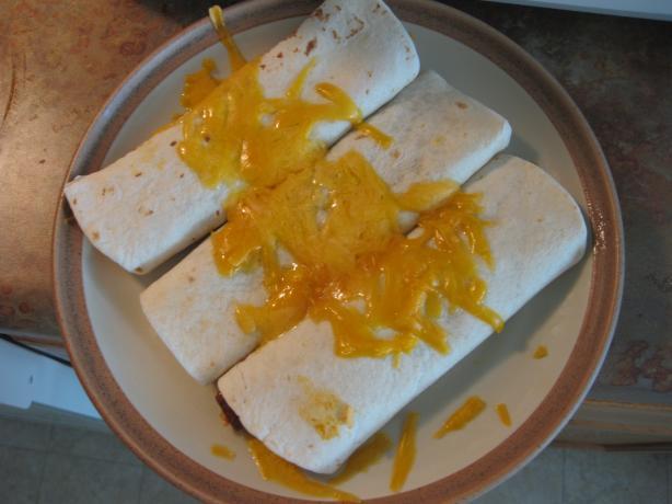 1-2-3 Rice and Chili Burritos