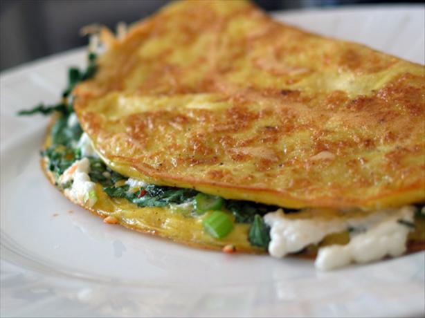 Omelette W/Goat Cheese, Green Onions & Cilantro