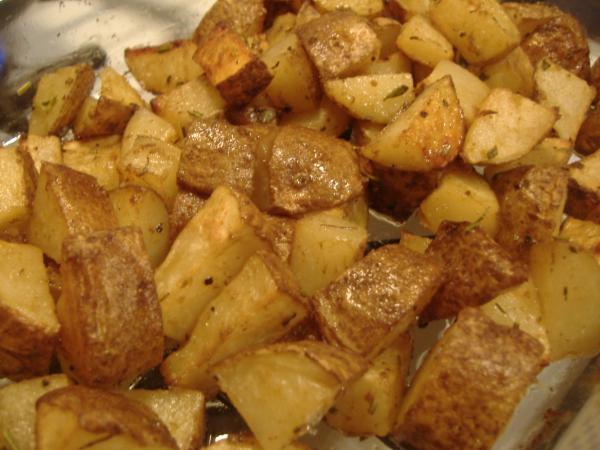 Barbecued Baby Red Potatoes (Low Fat)