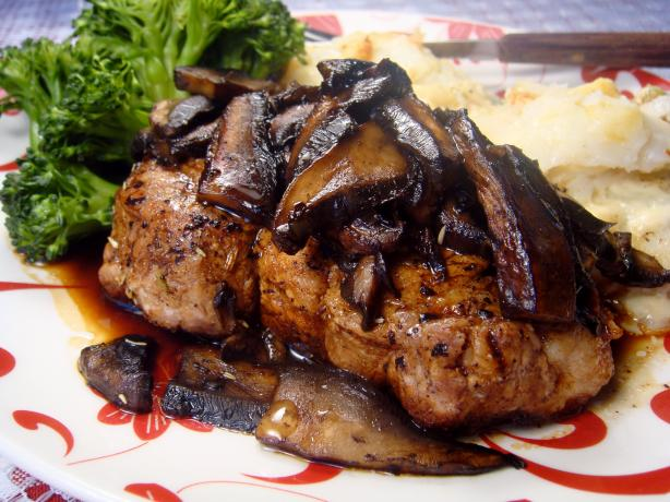 Balsamic Pork Chops With Mushroom