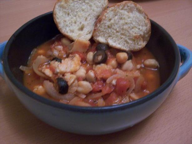 Cod, Chickpea & Olive Stew