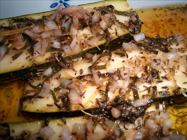Grilled Herbed Zucchini Halves