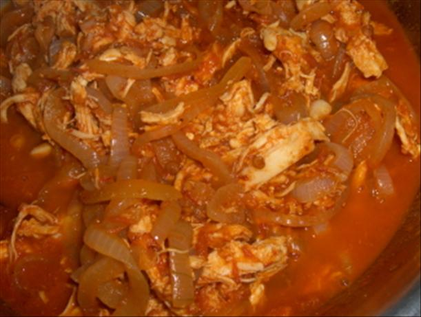 Shredded Chicken for Tostadas (Tinga)