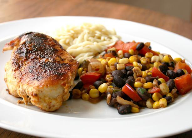 Chicken With Balsamic Succotash