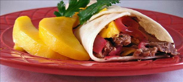 Beef and Mango Fajitas