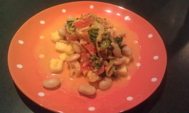 Catalan Sauteed Polenta and Butter Beans