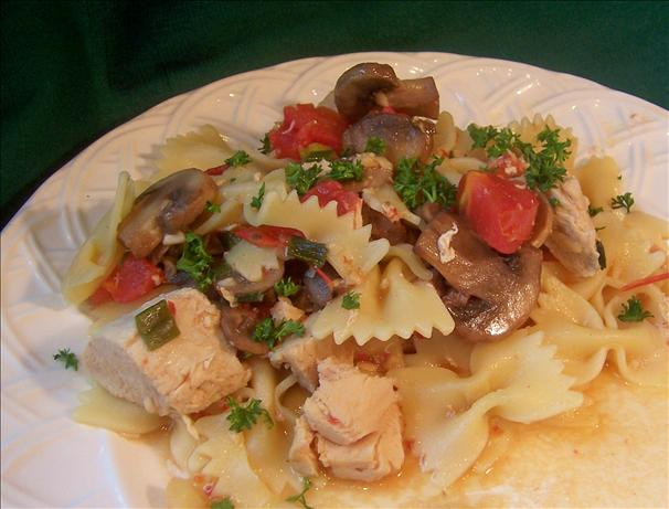 Sweet Garlic Chicken With Pasta