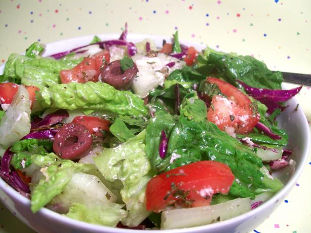 Country Salad With Herb Vinaigrette