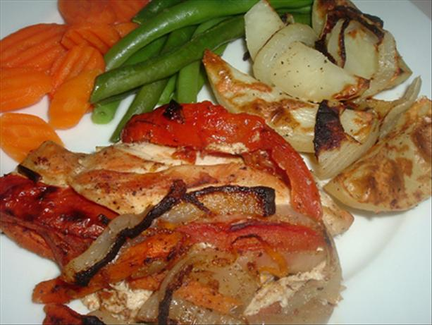 Sweet and Savory Vegetable Stuffed Chicken