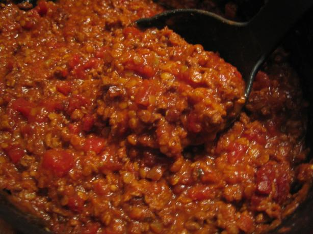 Ground Lamb and Lentil Chili