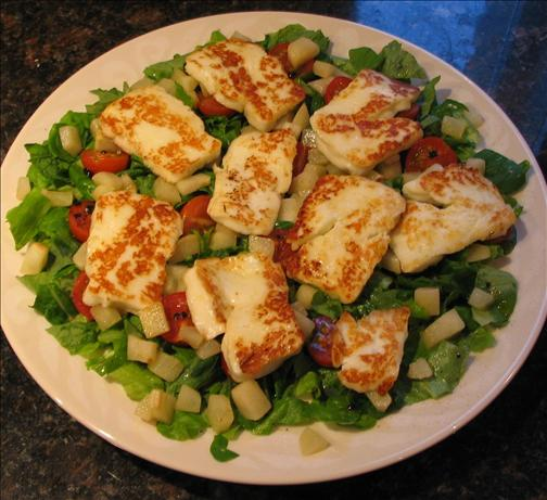 Halloumi and Pear Salad