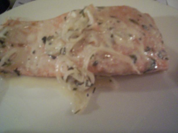 Grilled Salmon in Champagne Sauce