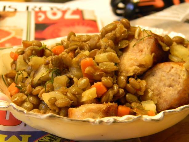 Sausage, Lentils and Fennel