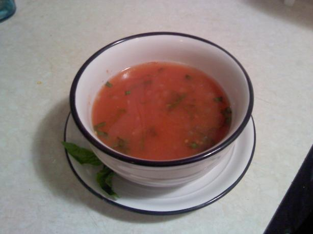 Light Tomato and Wine Soup