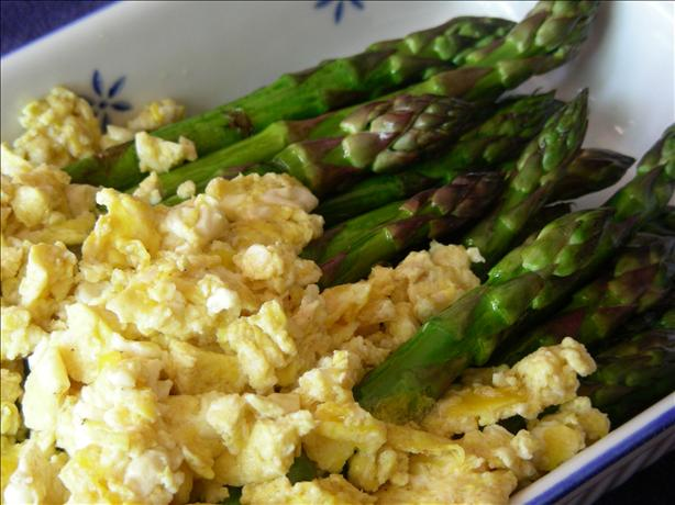 Roasted Asparagus With Scrambled Eggs