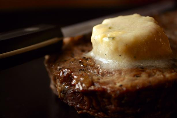 Strip Steak With Stilton-Port Butter