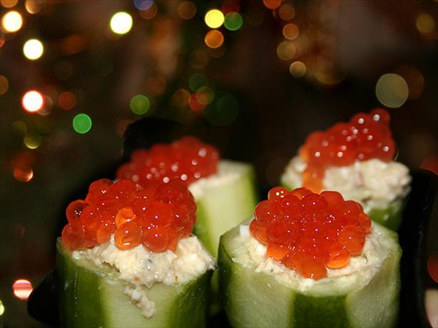 Cucumber Boats With Liver Pate Stuffing