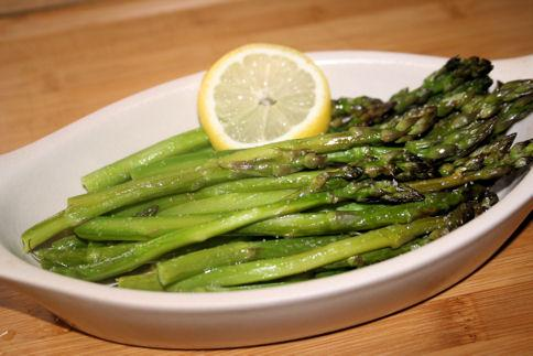 Baked Asparagus With Lemon Dressing