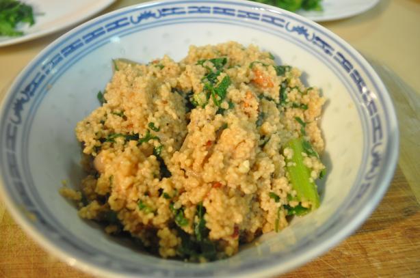 Spinach-Parmesan Couscous