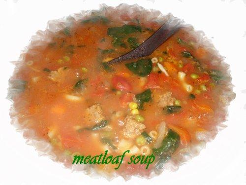 Leftover Meatloaf Soup
