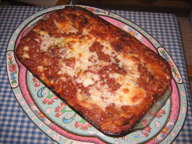 Three-Cheese Lasagna With Italian Sausage