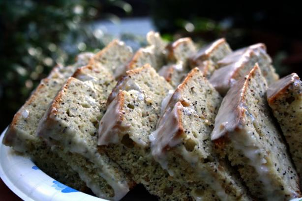 Poppy Seed Loaf With Lemon Icing