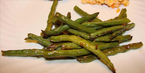 Ginger-Roasted Green Beans