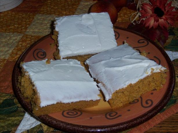 Sarah's Pumpkin Bars
