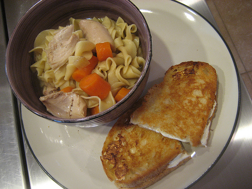 Homemade Chicken Soup With Egg Noodles