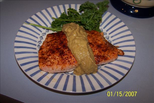 Cumin-Crusted Salmon With Guacamole