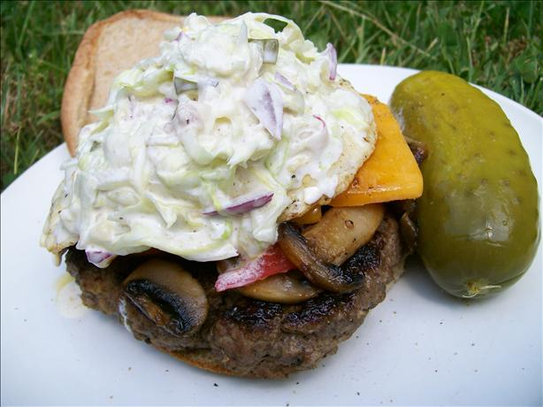 "Amy's Dill Pickle and Lettuce Hamburger "" Slaw"""