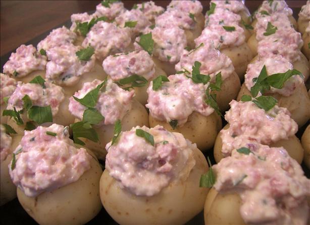 Ham-Stuffed New Potatoes