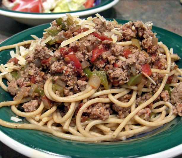 Spaghetti With Turkey Meat Sauce