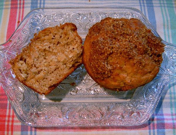Applesauce Multigrain Muffins