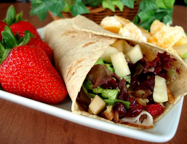 Cranberry Turkey Wraps