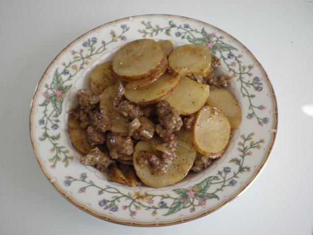 Italian Hamburger Potato Skillet