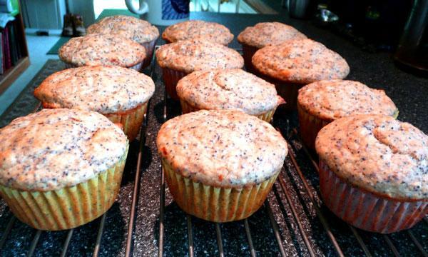 Vegan Lemon-Poppy Seed Muffins