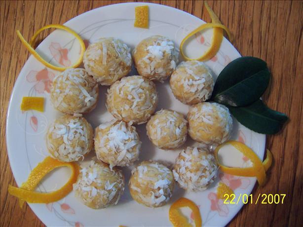 Quick Coconut Orange Balls