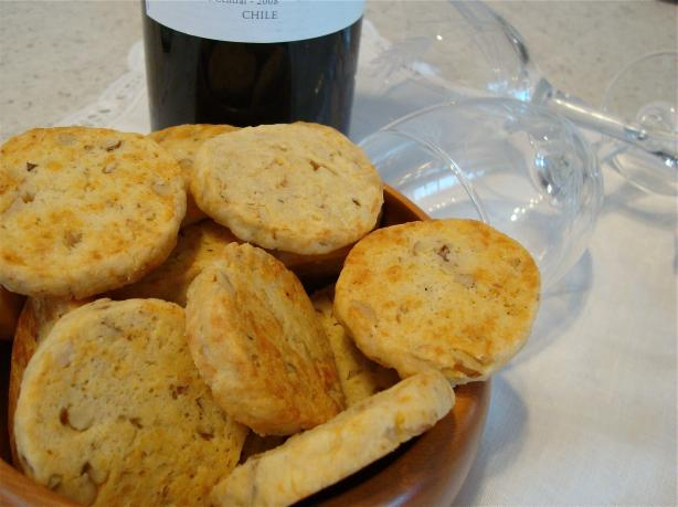 Savoury Cheese & Walnut Sables for Cocktails and Parties!