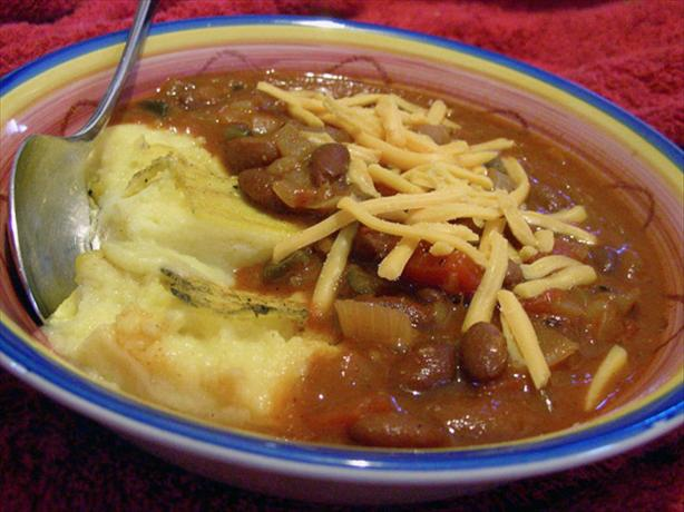 Mexican-Style Chili With Polenta Squares
