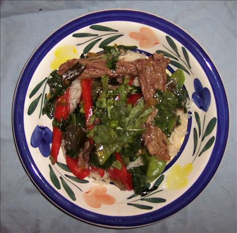 Gingery Beef Strips