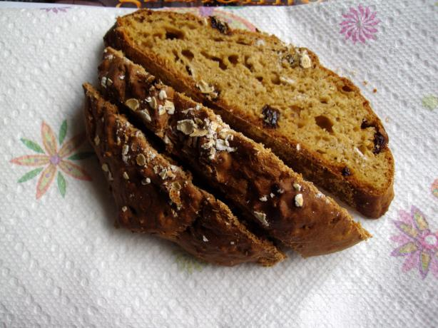 Oatmeal Molasses Bread - No Yeast Quick Bread