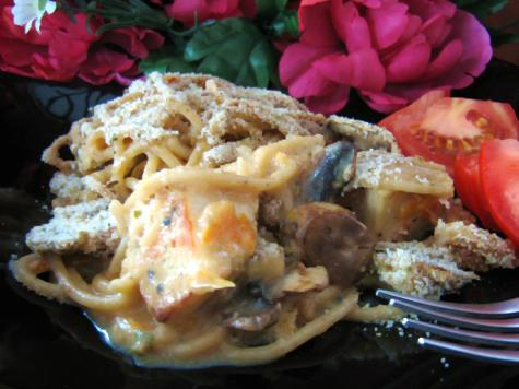 Shiitake and Chicken Tetrazzini