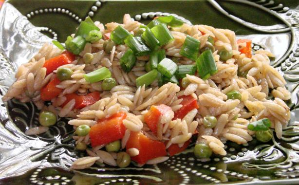 Orzo, Pea, and Pepper Salad