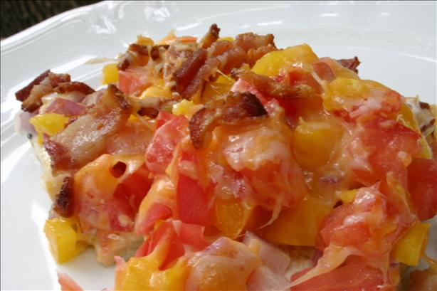 Tomato Bacon Squares