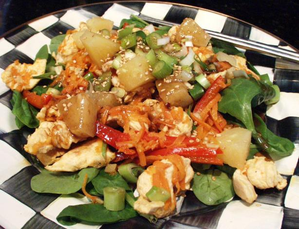 Sesame Chicken Stir Fry Salad
