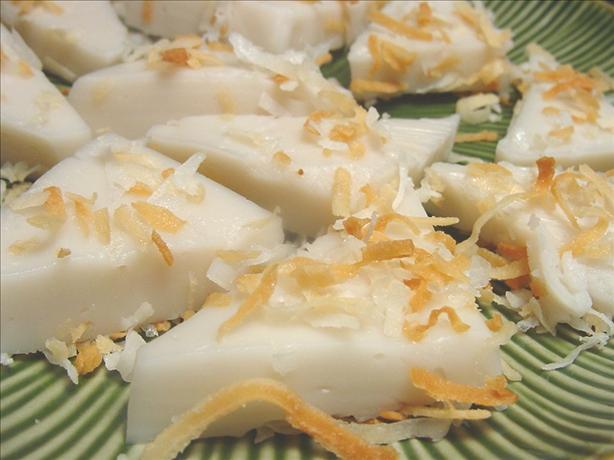 Coconut Pudding Triangles (Haupia)