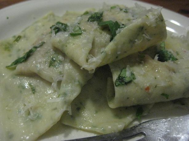 Coriander Ravioli With Pumpkin Filling