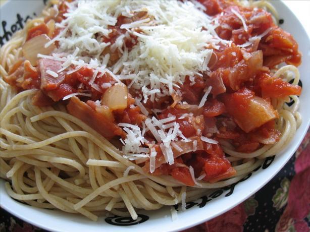 Danielle's Amatriciana Spaghetti