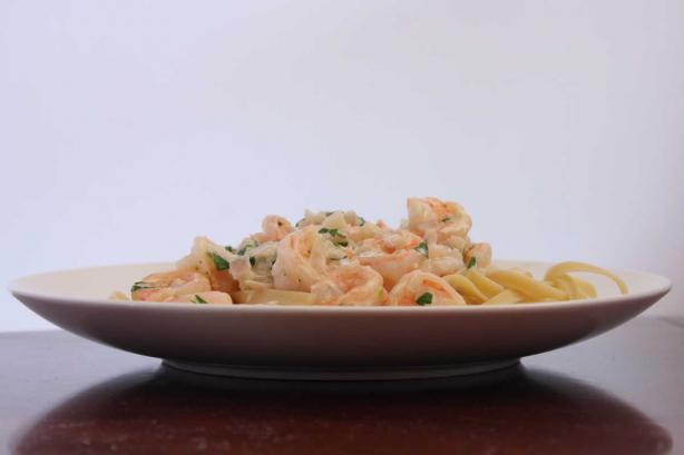 Shrimp Saute Vin Blanc